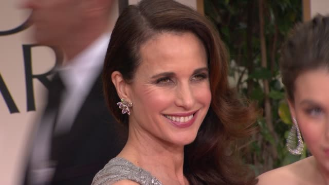 andie macdowell at 69th annual golden globe awards - arrivals on january 15, 2012 in beverly hills, california - andie macdowell stock videos & royalty-free footage