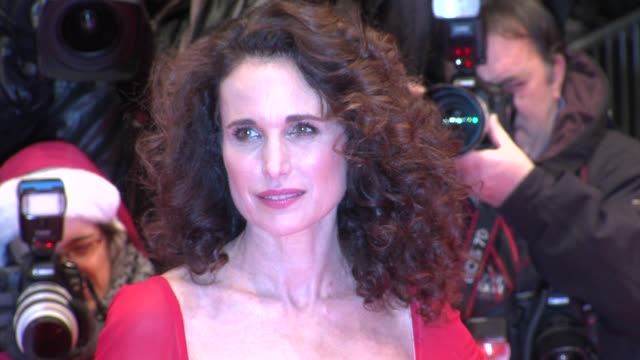 andie macdowell at captive premiere: 62nd international film festival 2012 at berlinale palace on february 12, 2012 in berlin, germany. - andie macdowell stock videos & royalty-free footage