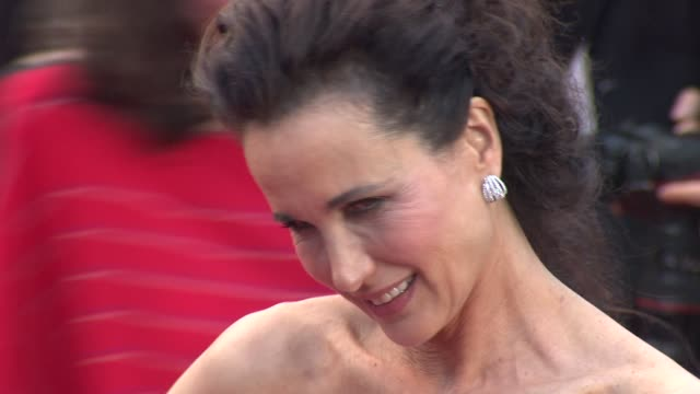 andie macdowell at closing ceremony & therese desqueyroux premiere: 65th cannes film festival at lumiere on may 27, 2012 in cannes, france - andie macdowell stock videos & royalty-free footage