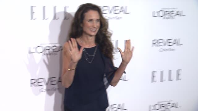 andie macdowell at elle's 21st annual women in hollywood celebration in los angeles, ca 10/20/14 - andie macdowell stock videos & royalty-free footage