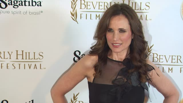 andie macdowell at the 10th annual international beverly hills film festival - opening night at beverly hills ca. - andie macdowell stock videos & royalty-free footage