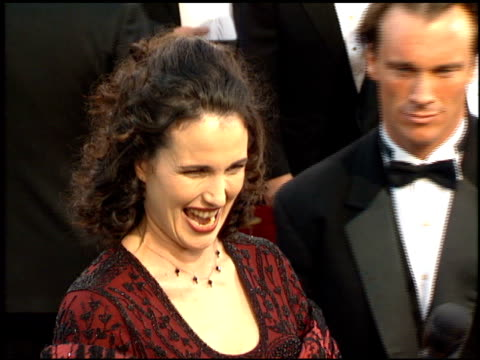 andie macdowell at the 1995 academy awards arrivals at the shrine auditorium in los angeles, california on march 27, 1995. - 67th annual academy awards stock videos & royalty-free footage