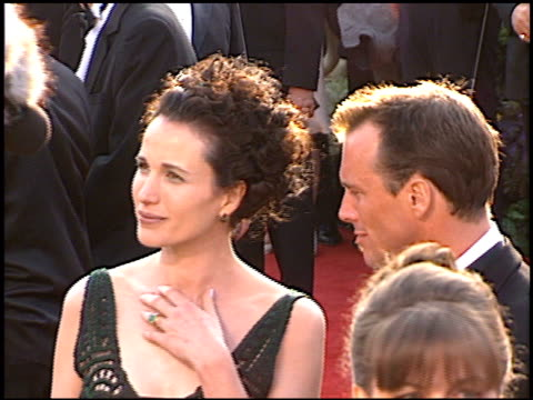 andie macdowell at the 1997 academy awards arrivals at the shrine auditorium in los angeles california on march 24 1997 - 69th annual academy awards stock videos and b-roll footage