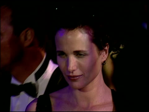 andie macdowell at the 1997 academy awards vanity fair party at the shrine auditorium in los angeles california on march 24 1997 - 69th annual academy awards stock videos & royalty-free footage