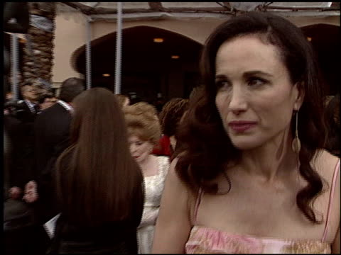 andie macdowell at the 2004 screen actors guild sag awards at the shrine auditorium in los angeles california on february 22 2004 - screen actors guild awards stock videos & royalty-free footage