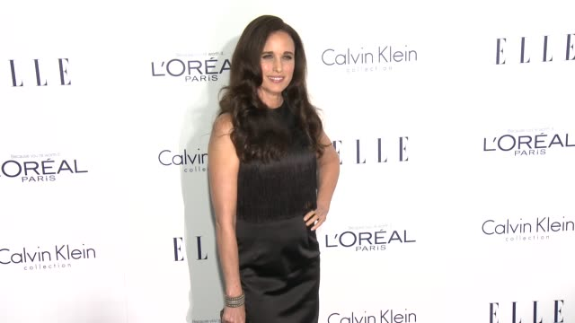 andie macdowell at the 2015 elle women in hollywood awards at four seasons hotel los angeles at beverly hills on october 19, 2015 in los angeles,... - andie macdowell stock videos & royalty-free footage