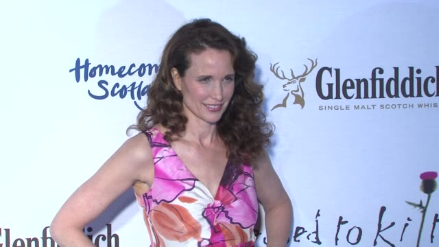 andie macdowell at the 7th annual 'dressed to kilt' charity fashion show at new york ny. - andie macdowell stock videos & royalty-free footage
