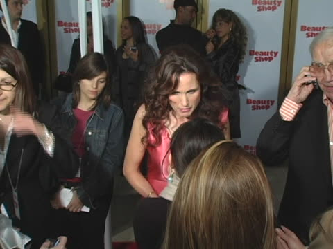 andie macdowell at the beauty shop world premiere at mann national theatre in westwood, ca. - andie macdowell stock videos & royalty-free footage