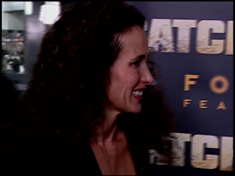 andie macdowell at the 'catch a fire' los angeles premiere at arclight cinemas in hollywood, california on october 25, 2006. - andie macdowell stock videos & royalty-free footage