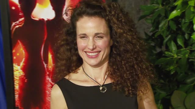 andie macdowell at the dreamworks pictures' and paramount pictures' 'dreamgirls' los angeles premiere at wilshire theatre in beverly hills,... - andie macdowell stock videos & royalty-free footage