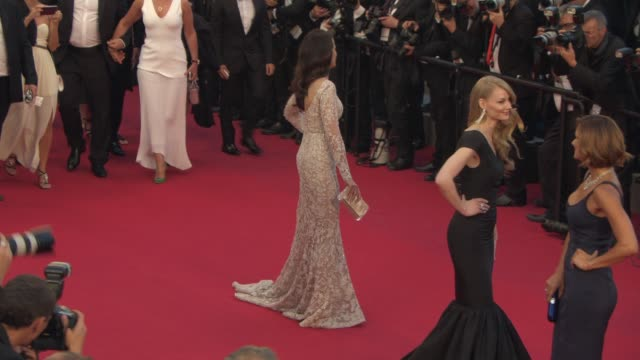 andie macdowell at 'the sea of trees' red carpet at palais des festivals on may 16, 2015 in cannes, france. - andie macdowell stock videos & royalty-free footage