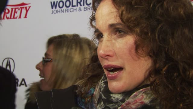 andie macdowell at the variety's 10 directors to watch 2010: sundance film festival 2010 at park city ut. - andie macdowell stock videos & royalty-free footage