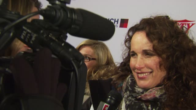 stockvideo's en b-roll-footage met andie macdowell at the variety's 10 directors to watch 2010: sundance film festival 2010 at park city ut. - sundance film festival