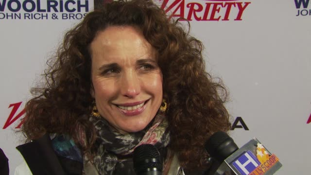 andie macdowell on being at the festival. at the variety's 10 directors to watch 2010: sundance film festival 2010 at park city ut. - andie macdowell stock videos & royalty-free footage