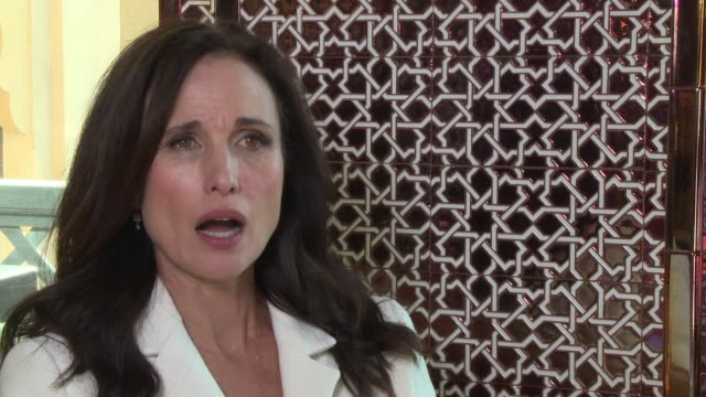 INTERVIEW Andie MacDowell on her career and supporting film festivals and independent theater at 2016 Dubai International Film Festival Day 6 at...
