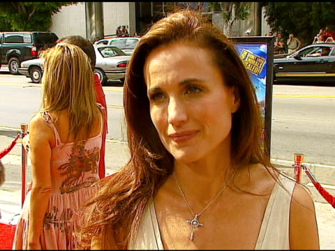 andie macdowell on her character, on working on an animated film at the 'barnyard'' world premiere at the cinerama dome at arclight cinemas in... - andie macdowell stock videos & royalty-free footage