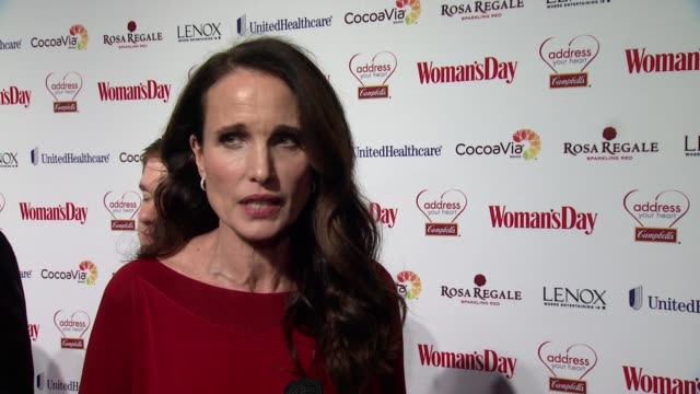 andie macdowell on her personal connection to heart disease. on losing her mother from the disease. on how she takes care of her heart health. on... - andie macdowell stock videos & royalty-free footage