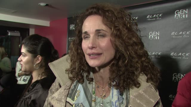 andie macdowell on what she's looking forward to at tonight's event, on what message she would like to send to barack obama and what her first love... - andie macdowell stock videos & royalty-free footage