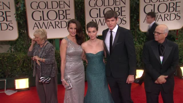 andie macdowell, rainey qualley and richard kohnk at 69th annual golden globe awards - arrivals on january 15, 2012 in beverly hills, california - andie macdowell stock videos & royalty-free footage