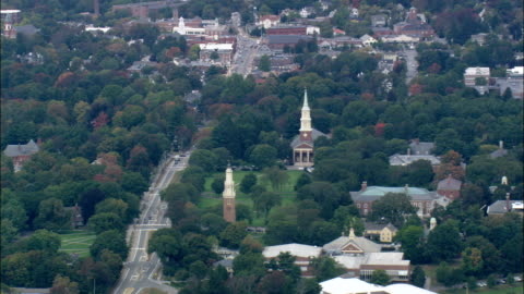 andover and phillips academy  - aerial view - massachusetts,  essex county,  united states - massachusetts stock videos & royalty-free footage