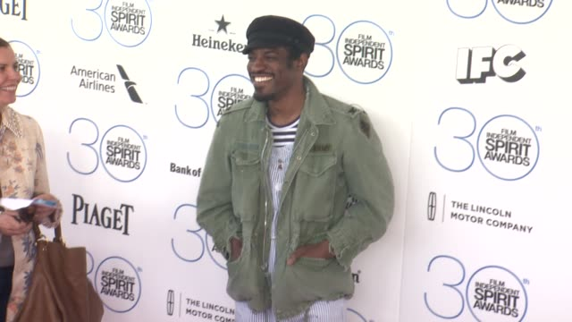 André 3000 at 30th Annual Film Independent Spirit Awards Arrivals at Santa Monica Beach on February 21 2015 in Santa Monica California