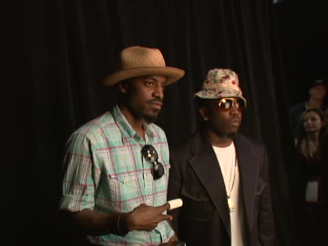 Andre 3000 and Big Boi at the 2006 BET Awards Portrait Studio at Shrine Auditorium in Los Angeles California