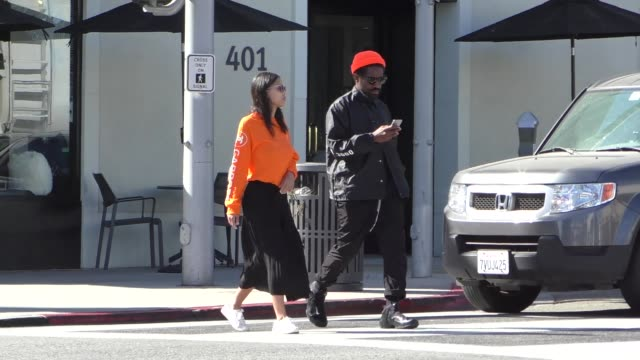 Andre 3000 Dominique Maldonado have lunch in Beverly Hills in Celebrity Sightings in Los Angeles