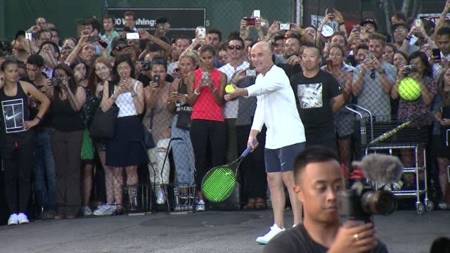 Andre Agassi at Nike's 'NYC Street Tennis' Event at TBD on August 24 2015 in New York City