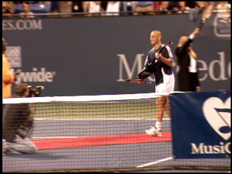 Andre Agassi at the Night at the Net Charity Tennis at UCLA in Westwood California on July 25 2005