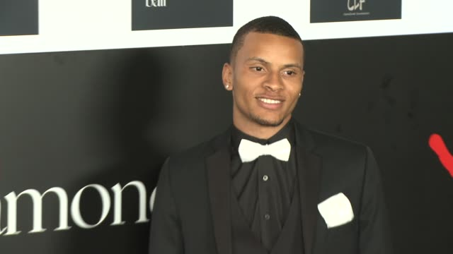 Andre De Grasse at the 2nd Annual Diamond Ball at Barker Hangar on December 10 2015 in Santa Monica California