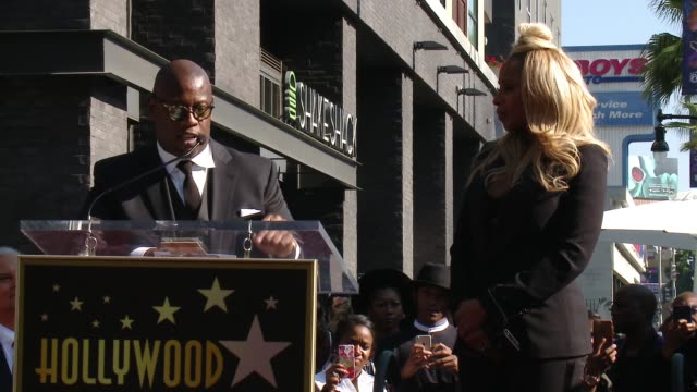 SPEECH Andre Harrell on Mary speaking her truth and setting an example for little girls at the Mary J Blige Hollywood Walk of Fame Star Ceremony on...