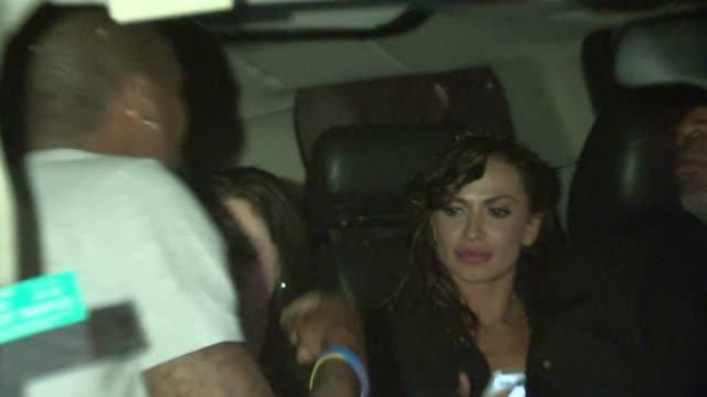 andre johnson karina smirnoff depart sayers in hollywood 04/08/13 - karina smirnoff stock videos & royalty-free footage