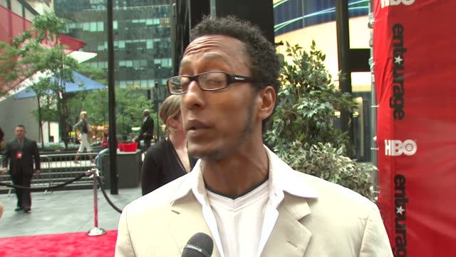 Andre Royo of 'The Wire' on supporting 'Entourage' a potential role on 'Entourage' and the HBO family at the 'Entourage' Fourth Season Premiere at...