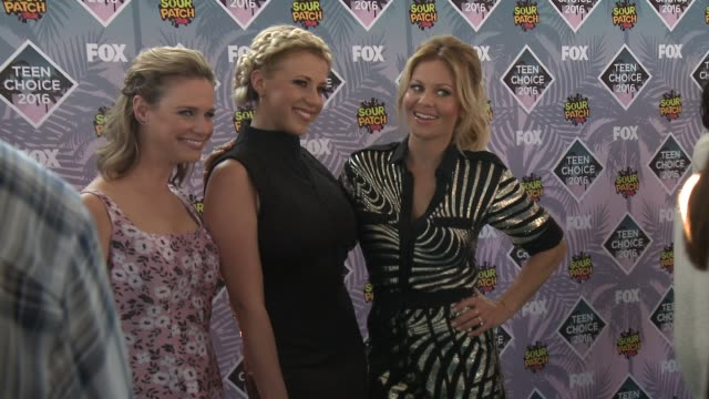 Andrea Barber Jodie Sweetin Candace CameronBure at Teen Choice Awards 2016 in Los Angeles CA
