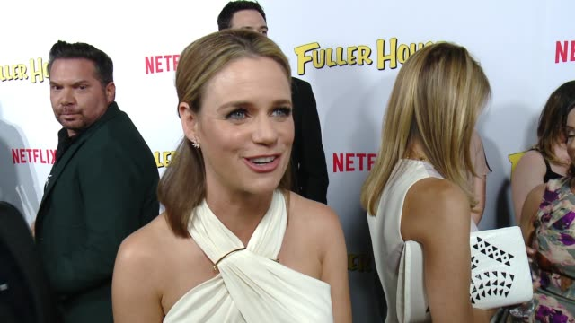 INTERVIEW Andrea Barber on what it's like to be part of this new series and what fans should expect at the Netflix's 'Fuller House' Premiere at...