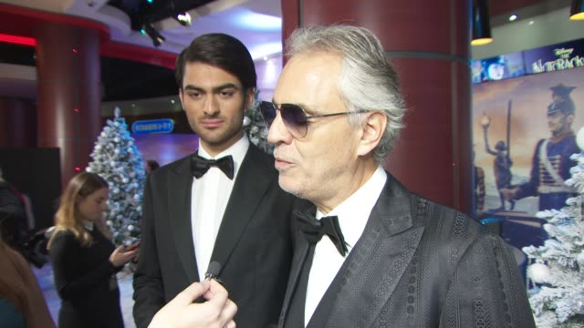 andrea bocelli and matteo bocelli at the nutcracker and the four realms gala screening on november 1 2018 in london england - the nutcracker named work stock videos & royalty-free footage