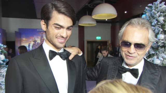 interview andrea bocelli and matteo bocelli on performing as father and son for the first time for this recording and the possibility of a number 1... - ballet dancing stock videos & royalty-free footage