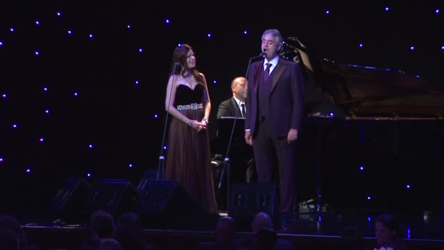 andrea bocelli at andrea bocelli foundation's 2011 benefit gala on 12/9/2011 in beverly hills, ca. - andrea bocelli stock videos & royalty-free footage