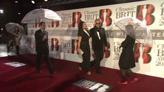 andrea bocelli at classic brit awards at royal albert hall on october 2, 2012 in london, england - andrea bocelli stock videos & royalty-free footage