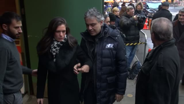 Andrea Bocelli at the 'Good Morning America' studio with fans Andrea Bocelli at the 'Good Morning America' studi on January 29 2013 in New York New...