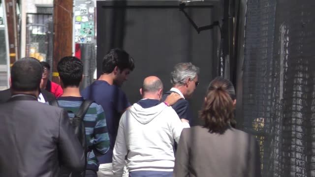Andrea Bocelli leaving Jimmy Kimmel Live in Hollywood in Celebrity Sightings in Los Angeles