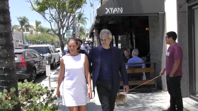 andrea bocelli shopping in beverly hills in celebrity sightings in los angeles, - andrea bocelli stock videos & royalty-free footage
