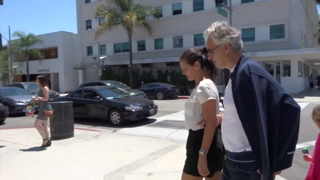 Andrea Bocelli Veronica Berti leave a lunch date at Il Pastaio restaurant in Beverly Hills in Celebrity Sightings in Los Angeles