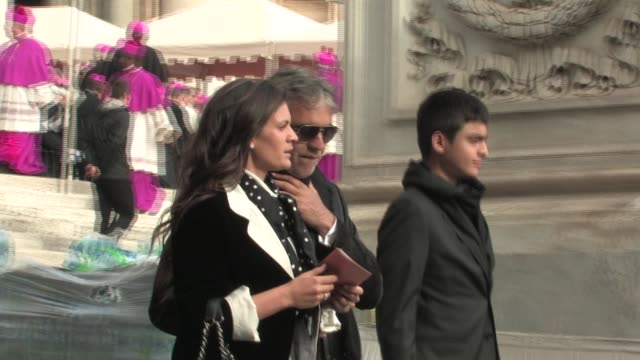 Andrea Bocelli Veronica Berti The Beatification of Pope John Paul II at Saint Peter's Square on May 01 2011 in Vatican City Vatican