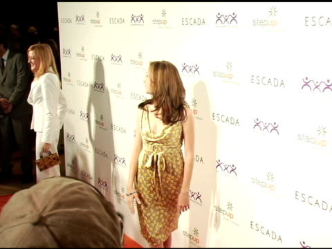 andrea bowen at the step up women's network inspiration awards sponsored by escada at the beverly hilton in beverly hills california on april 27 2006 - escada stock videos & royalty-free footage