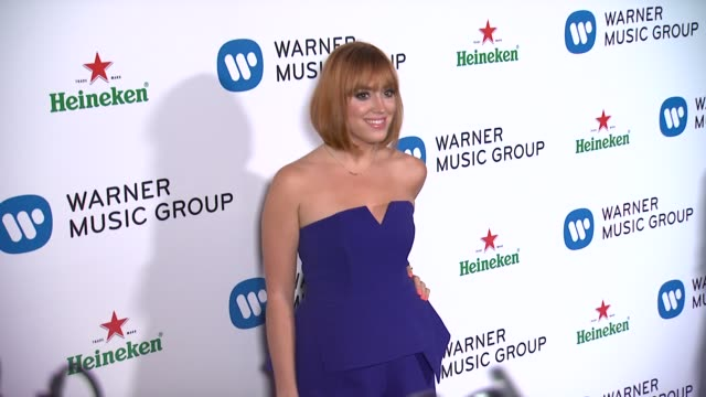 Andrea Bowen at Warner Music Group 2014 Grammy Celebration at Sunset Tower Hotel on in West Hollywood California
