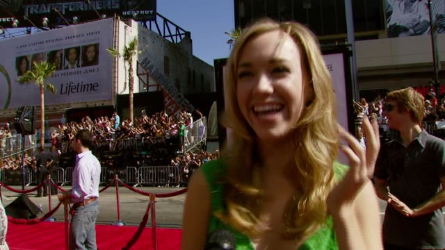 Andrea Bowen on attending the premiere and what she loves about the Harry Potter story at the 'Harry Potter and the Order of the Phoenix' US Premiere...