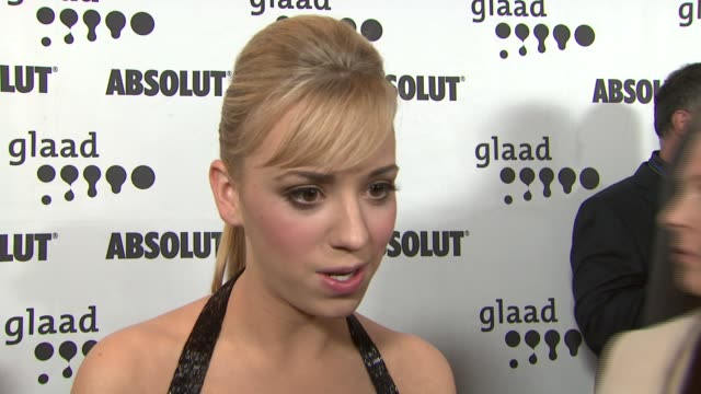 Andrea Bowen on being a supporter of the show and actors portraying gay characters at the 18th Annual GLAAD Media Awards at the Kodak Theatre in...