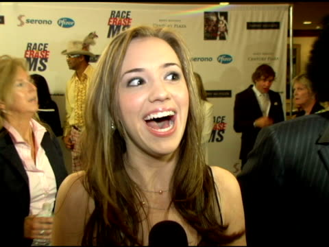 Andrea Bowen on being at the event why its important whats coming up on Desperate Housewives at the 13th Annual Race to Erase MS red carpet at Hyatt...