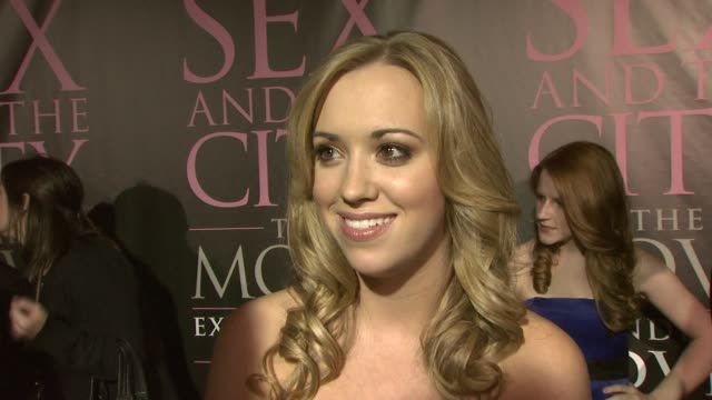 Andrea Bowen The Gossip Eva Longoria Parker at the DVD Launch Party for Sex and the City The Movie Extended Cut at New York NY